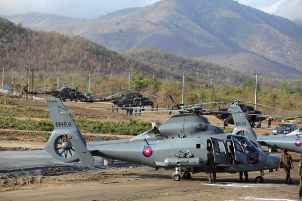 Opérations militaires Dragon d'or à Kampong Speu