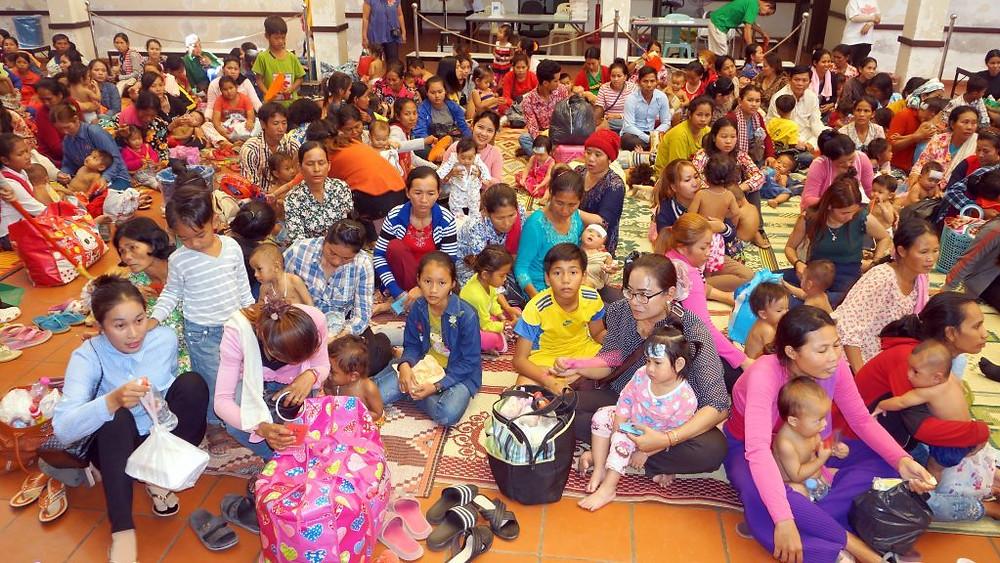 Près de 600 enfants ont été hospitalisés lundi dans les cinq hôpitaux pour enfants de Kantha Bopha