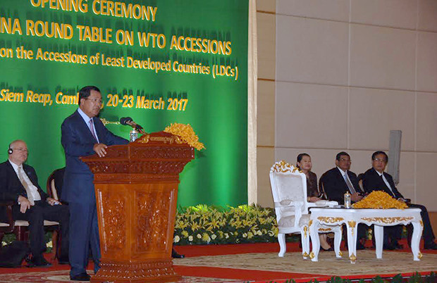 Samdech Hun Sèn défend les PMA pour leur accession à l'Organisation Mondiale du Commerce
