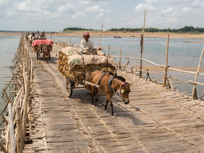 Histoire & Kampong Cham : Quand les villageois craignaient la fin du pont de bambou…