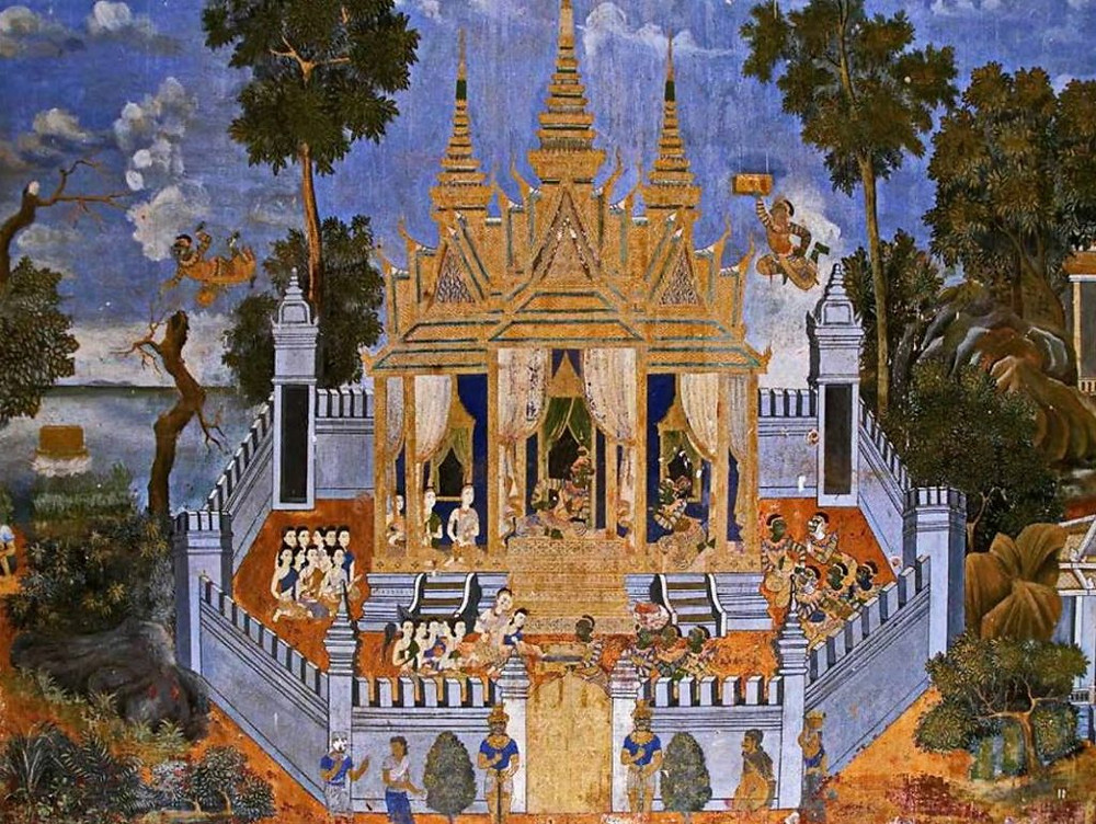 Représentation du monastère Preah Keomorokot (Pagode d'argent)
