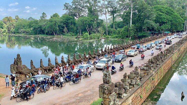 Affluence à Siem Reap pendant Pchum Ben