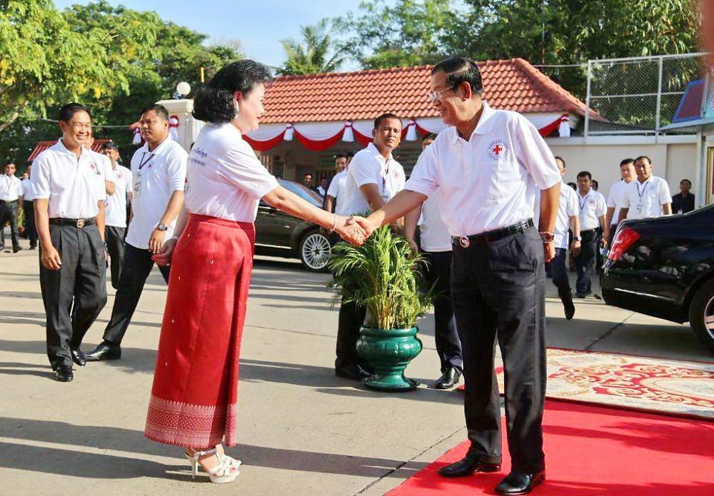 La présidente du CRC, Bun Rany Hun Sen et son époux, le Premier ministre Hun Sen