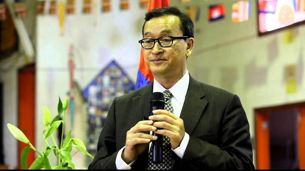 L'ancien président du principal parti d'opposition du Cambodge, Sam Rainsy, s'est déclaré chef du parti