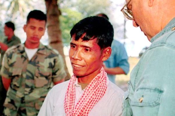 Mao Ran alors soldat du 410e bataillon des Khmers rouges
