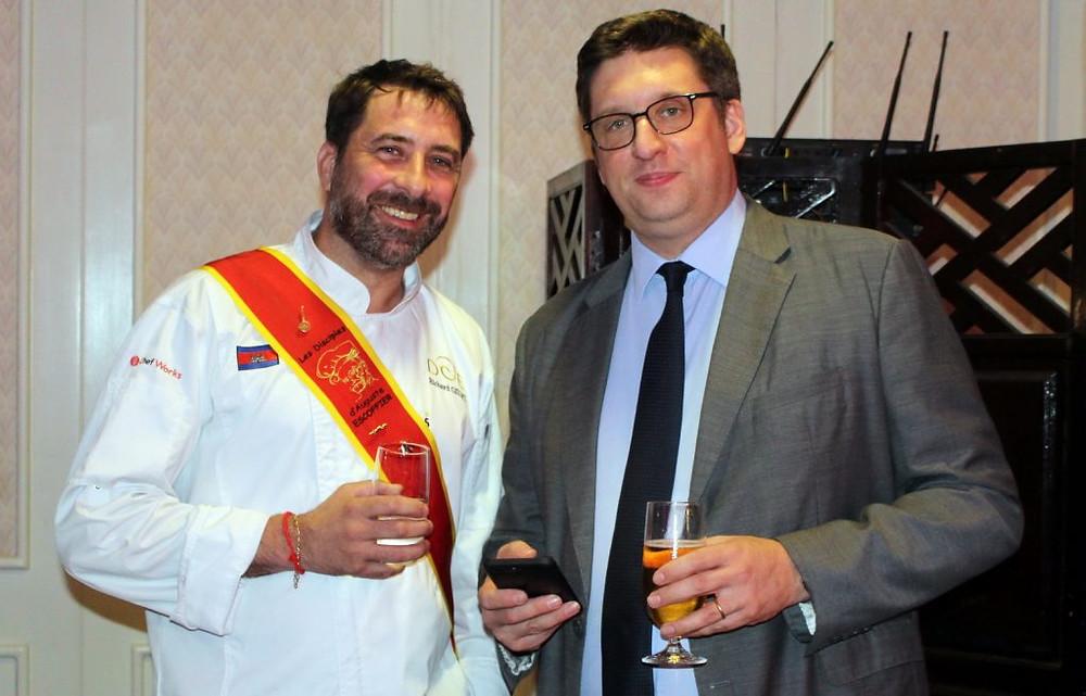 Guillaume Massin, Président de la CCIFC (à gauche) aux cotés de Richard Gillet (Escoffier)