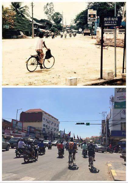 Siem Reap d'hier et d'aujourd'hui : La route nationale 6