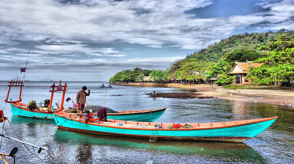 Pêcheurs à Kep