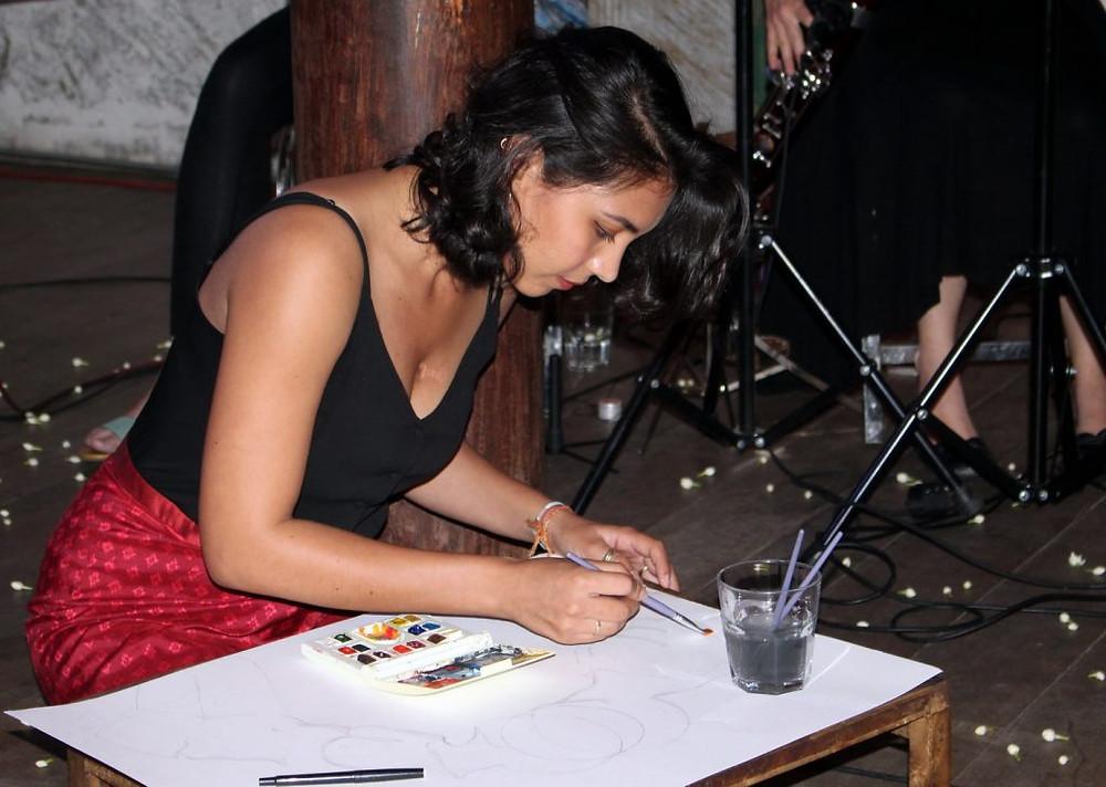 Adana Legros en Live drawing