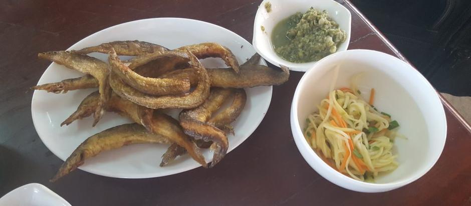 Gastronomie & Cambodge : La fine et savoureuse anguille paon (ត្រីឆ្លូញ)