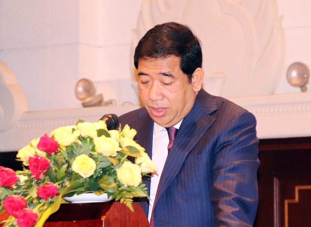 Son Excellence M. Kong Vibol lors du discours d'ouverture