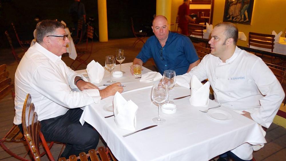 Avec Philippe Veeckmans et Franck Sampéré, gérants de l'Open Wine