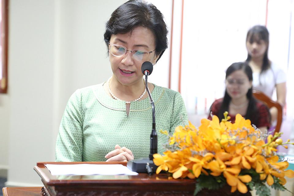 La Ministre de la condition féminine, S.E Dr Ing Kuntha Phavi