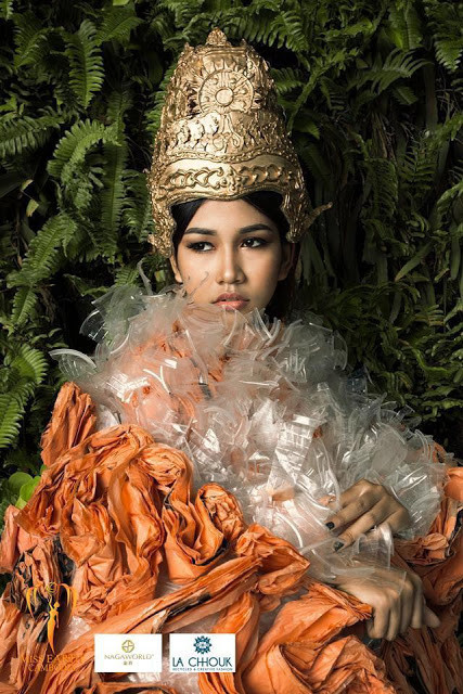 La mode recyclée avec Em Kun Thong, Miss Earth Cambodia