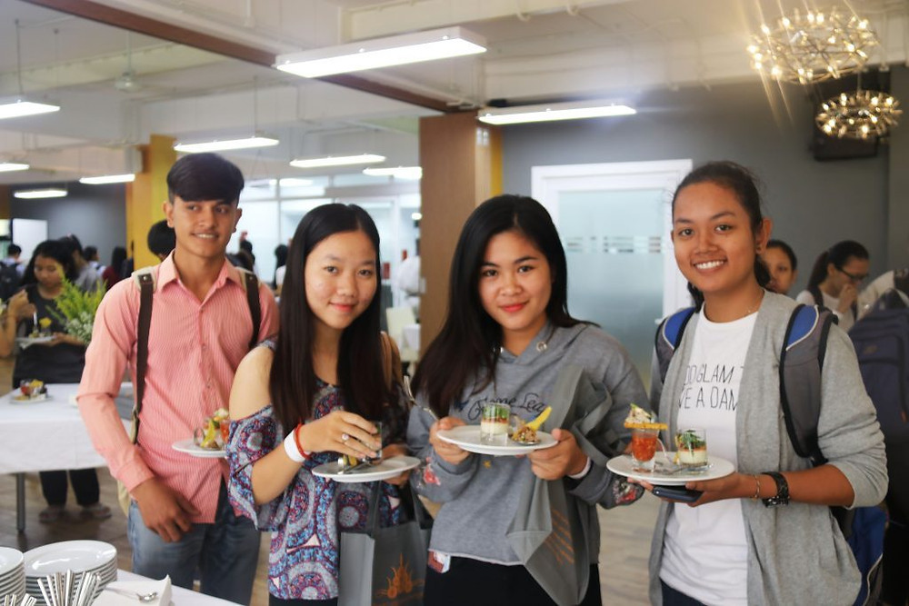 Journée Portes Ouvertes à l'Académie des Arts Culinaires du Cambodge.