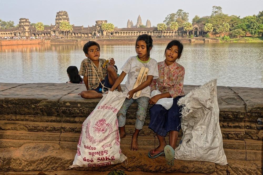 sur le principal site touristique du Cambodge (Angkor Vat) ..