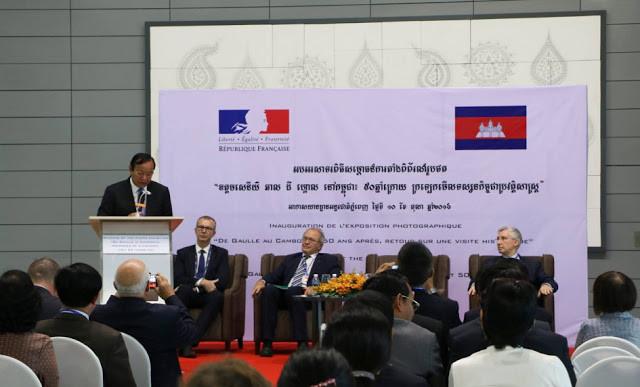 Inauguration de l'exposition sur la visite du Général de Gaulle au Cambodge à l'aéroport de Phnom Penh