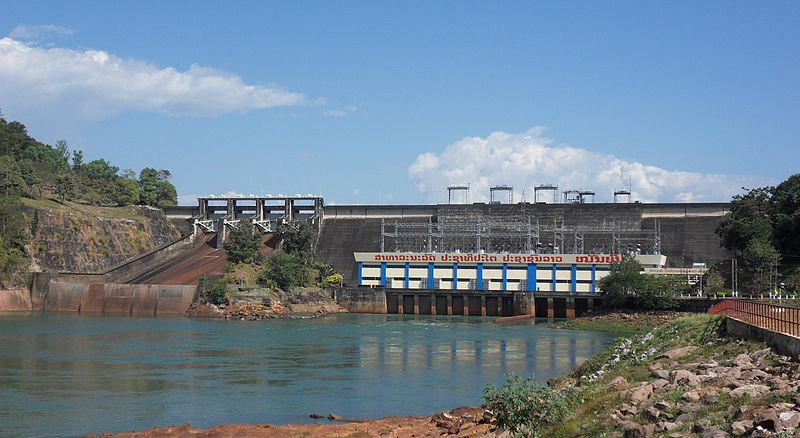 Le barrage Nam Ngum 1, sur le Nam Ngum, au Laos.