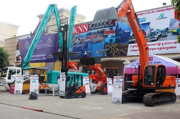 Salon de l'industrie de la construction à Koh Pich. Photographie fournie