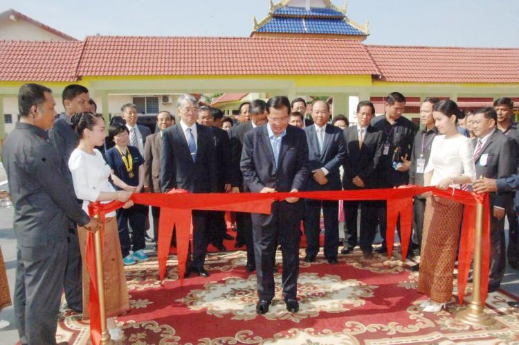 Inauguration du Bâtiment de l'Amitié Cambodge-Corée