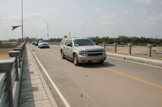 Inauguration du pont Koh Pèn à Kampong Cham