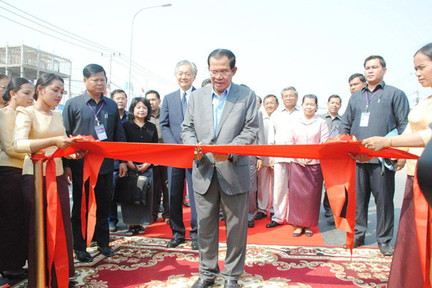 Samdech Techo Hun Sèn, Premier ministre du Royaume du Cambodge lors de l'inauguration