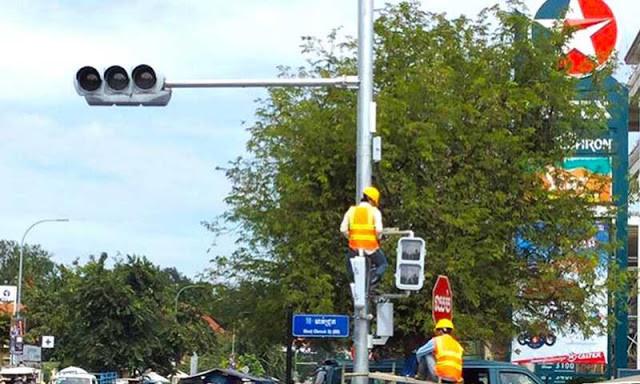 Nouveaux feux de signalisation. Photographie par construction-property.com