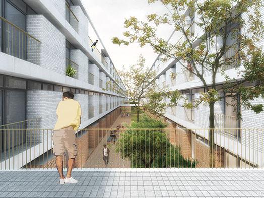 Design primé pour la ZES de Phnom Penh. Illustration Atarchitecture