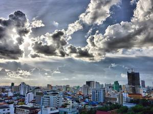 Cambodge & Photographie : Impressionnants ciels de Mousson dans le ciel de Phnom Penh