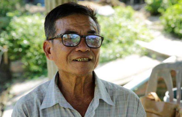 Prey Veng, le pisciculteur local Khai Heang