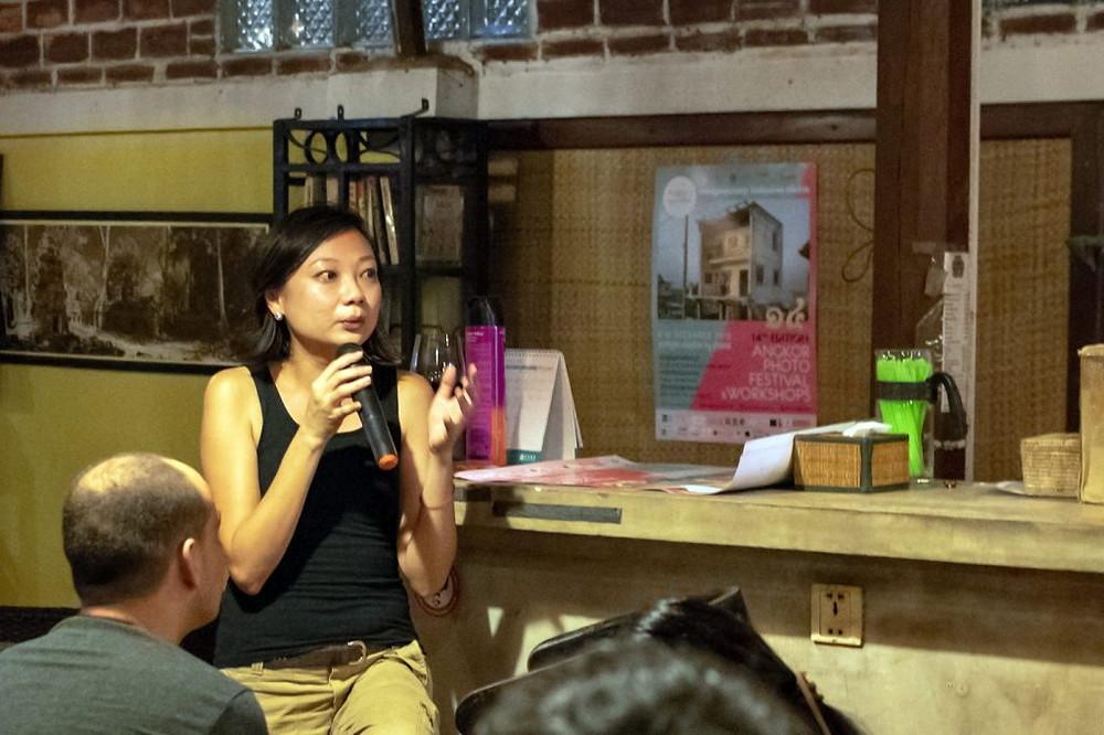 Jessica Lim, directrice du festival, qui succède cette année à Jean-Yves Navel