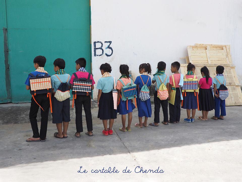 ''le Cartable de Chenda'', la nouvelle marquemade in Pour un Sourire d'Enfants (PSE)