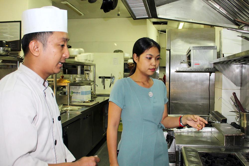Visite dans les cuisines