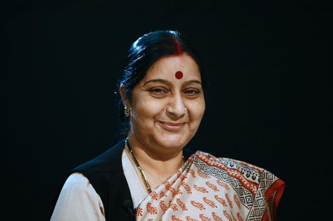 Mme Sushma Swaraj, ministre des Affaires étrangères de la République d'Inde
