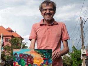 Siem Reap & Portrait: Bruno Lévy Truffert, l'artiste angkorien et khmerologue