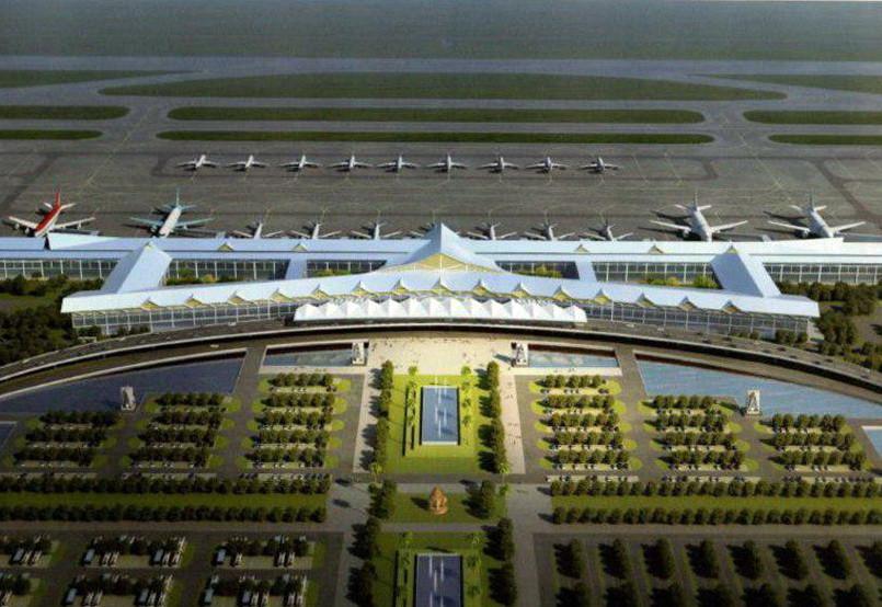 Projection 3D du projet d'aéroport à Siem Reap