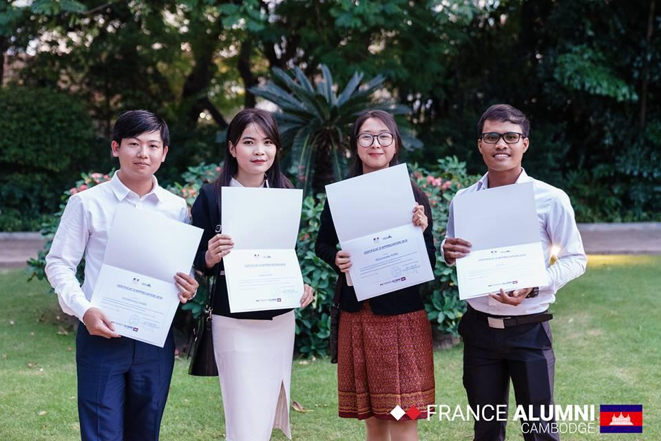 Remise de diplômes à l'Ambassade de France. Photographie France Alumni Cambodge