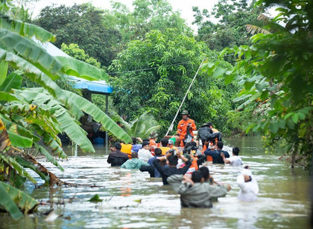 Inondations & Banteay Meanchey : L'armée cambodgienne accélère les évacuations