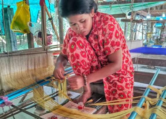 Cambodge & Tourisme : Koh Dach, l'île des tisserandes