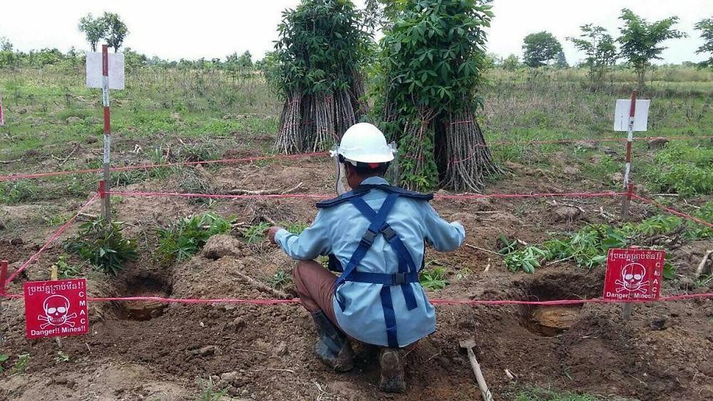 40 Cambodgiens suivront une formation au déminage en Chine