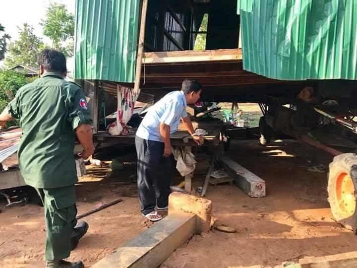 Banteay Meanchey : Deux écoles et 88 habitations par une tempête