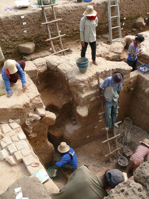 Les chantiers de fouilles mobilisent à chaque fois de nombreux ouvriers