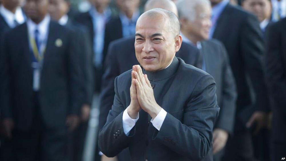 Le Roi Norodom Sihamoni. Photographie VOA/Heng Sinith