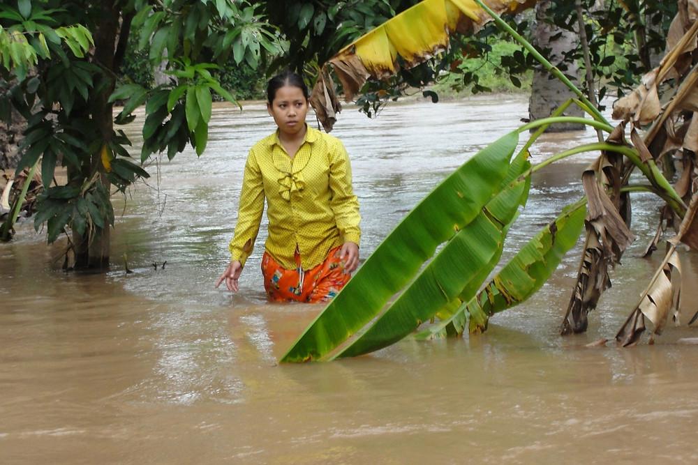 Inondations à Kampong Cham