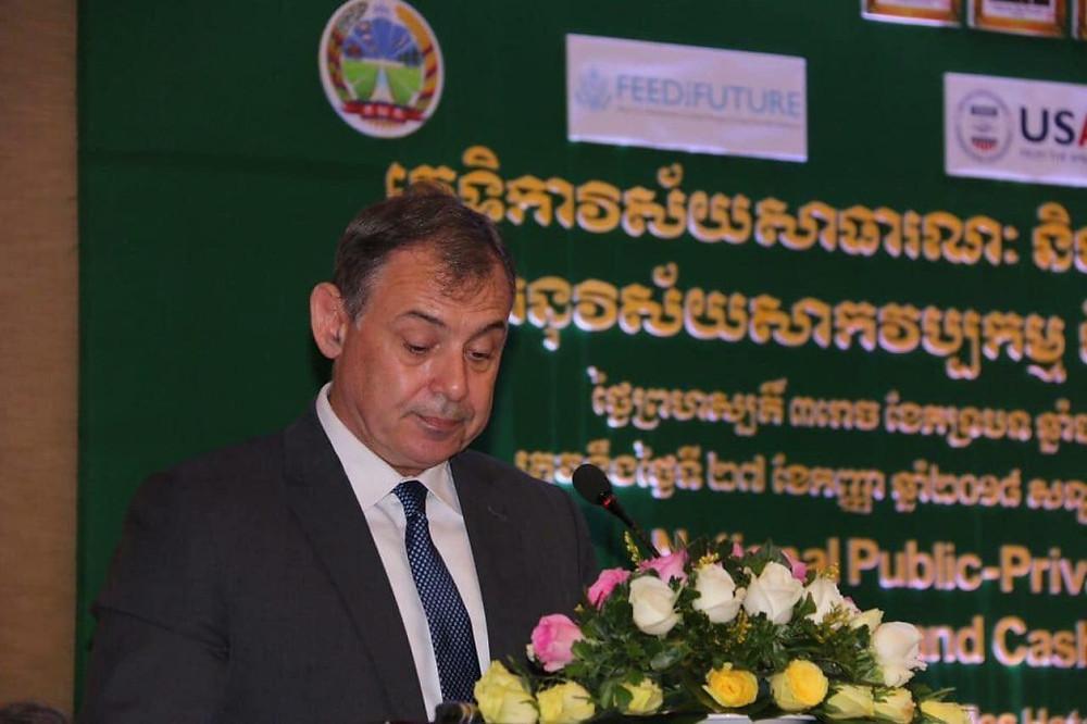 William A. Heidt, ambassadeur des Etats-Unis au Cambodge,