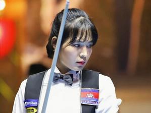 Sports : La joueuse de billard Sruong Pheavy participe à la PBA Team League 2021-2022