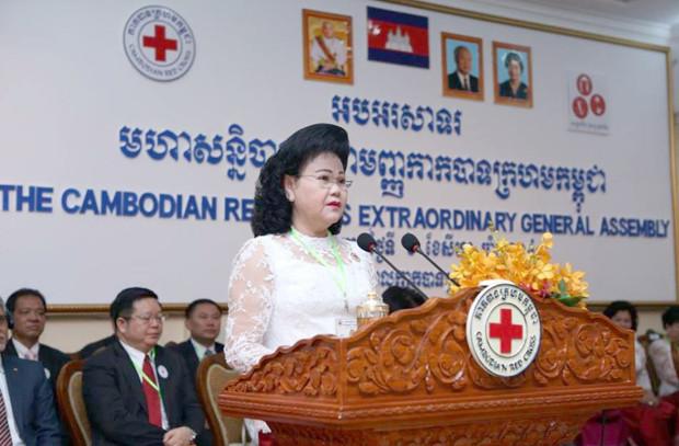Bun Rany Hun Sèn, présidente de la CRC