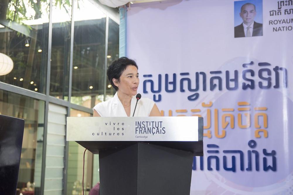 Son Excellence madame l'Ambassadrice de France Eva Nguyen Binh