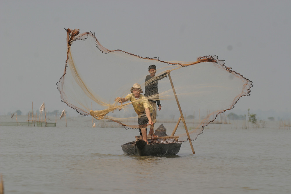 Pêche au Cambodge. Photographie ILO
