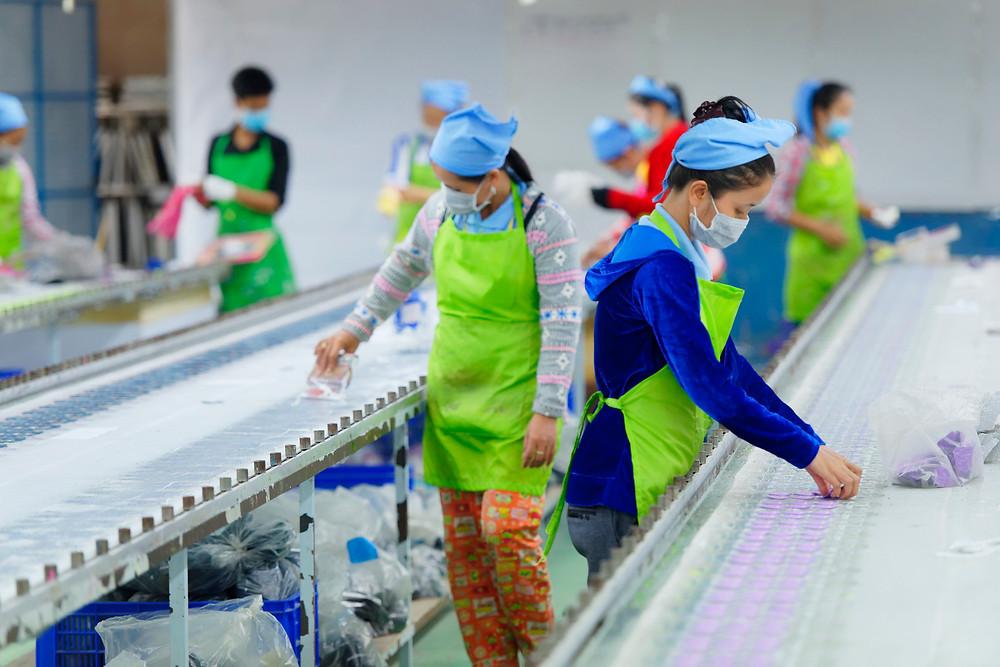 Les exportations du textile du Cambodge étaient évaluées à 9,5 milliards de dollars américains en 2020
